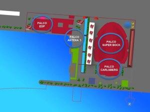 Mapa dos palcos de 2015